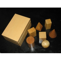 Demomstration Set of Wooden Geometrical Solids