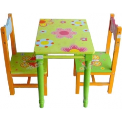 Children's Desk and 2 Chairs Set