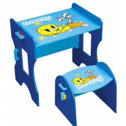 Children's Desk and One Chair Set