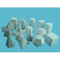 Geometric Solids Model Set (15 Pieces)