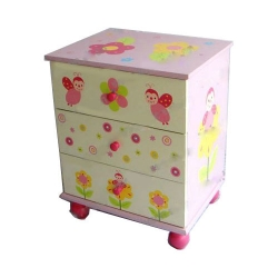 Four-wheel Cabinet with 3 Drawers