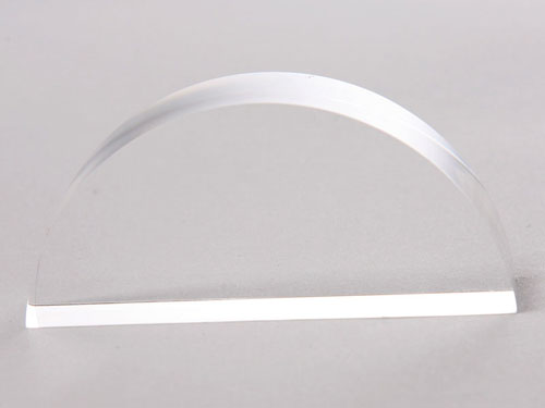 Transparent Semi-circle Plate