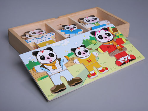 """Dress-up Pandas"" Puzzle Game"