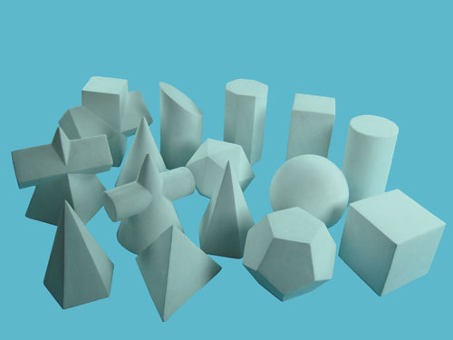 Geometric Solids Model Set (15 Pieces)