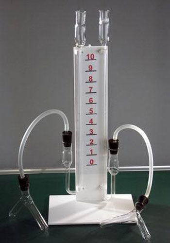 The Relation Between Chemical Reaction Speed and Conditions Demonstration Apparatus