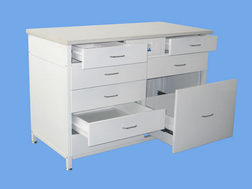 Laboratory Workbench with Fitted Cabinets