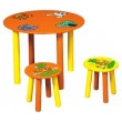 Round Children's Desk and 2 Chairs Set