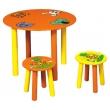 Round Children's Desk and 2 Chairs Set